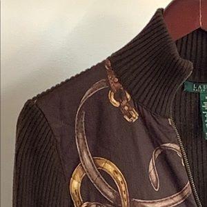 Lauren Zipper Bridled Sweater
